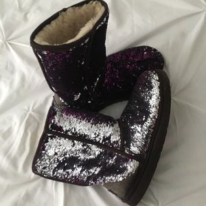Purple and silver (reversible) sequin Ugg's